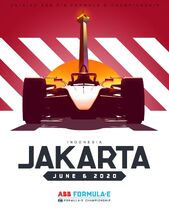 Jakarta E-Prix Poster