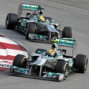 Mercedes duo 2013 Malaysia