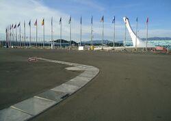 Future track Formula 1 in Sochi Olympic Park