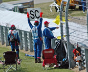 F1 yellow flag and SC sign