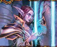 Night Elf Moon Priestess TCG BotG 083