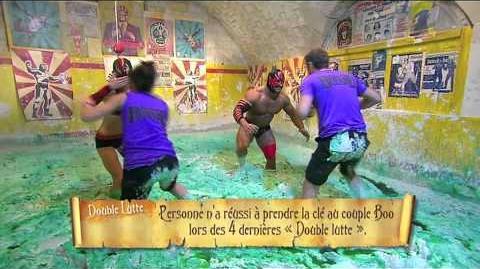 Erika Moulet et Marc Emmanuel dans la Double lutte Epreuve complète - Fort Boyard du 18 juillet