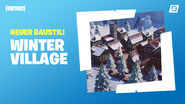 Fortnite Kreativmodus Winter Village-Fertigobjekte
