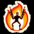 On Fire - Emoticon - Fortnite