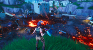 Fortnite Tilted Towers zerstört Nacht