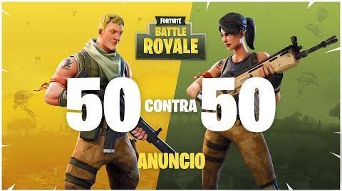 Fortnite Battle Royale tráiler de lanzamiento de 50 contra 50