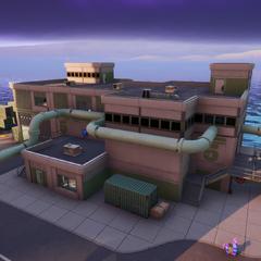 The pump building; Building 5.