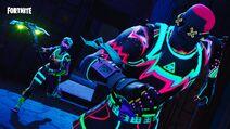 Fortnite Neonleuchten Set Promo