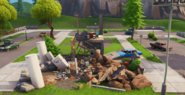 Destroyed Pleasant Park Modern House - Events - Fortnite