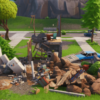 Pleasant Park's Modern House destroyed.