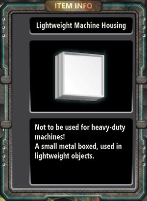 Lightweight Machine Housing