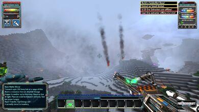 Crashed ship smoke