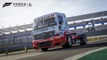 The Mercedes-Benz #24 Tankpool24 Racing Truck in Forza Motorsport 6