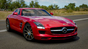 The Mercedes-Benz SLS AMG in Forza Horizon 3
