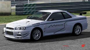 Nissan Mine's R34 Skyline GT-R in Forza Motorsport 4
