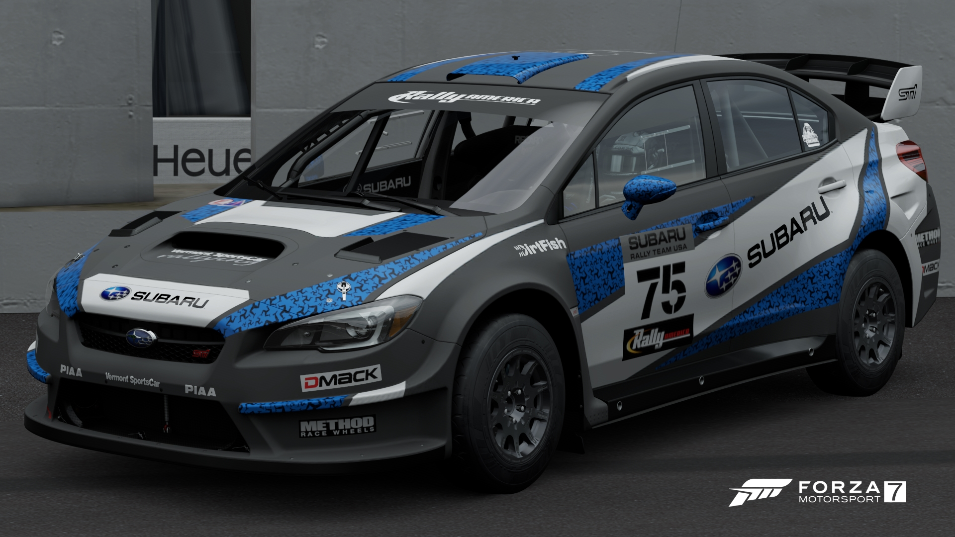 The 2016 Subaru #75 WRX STI VT15R Rally Car In Forza Motorsport 7