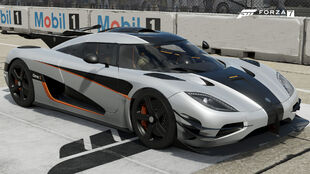 The Koenigsegg One:1 in Forza Motorsport 7