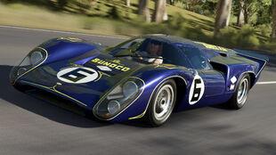 The 1969 Lola #6 Penske Sunoco T70 MkIIIB in Forza Horizon 3