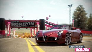 Alfa Romeo 8C Spider in Forza Horizon
