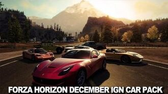 Forza Horizon December IGN Car Pack Preview Trailer