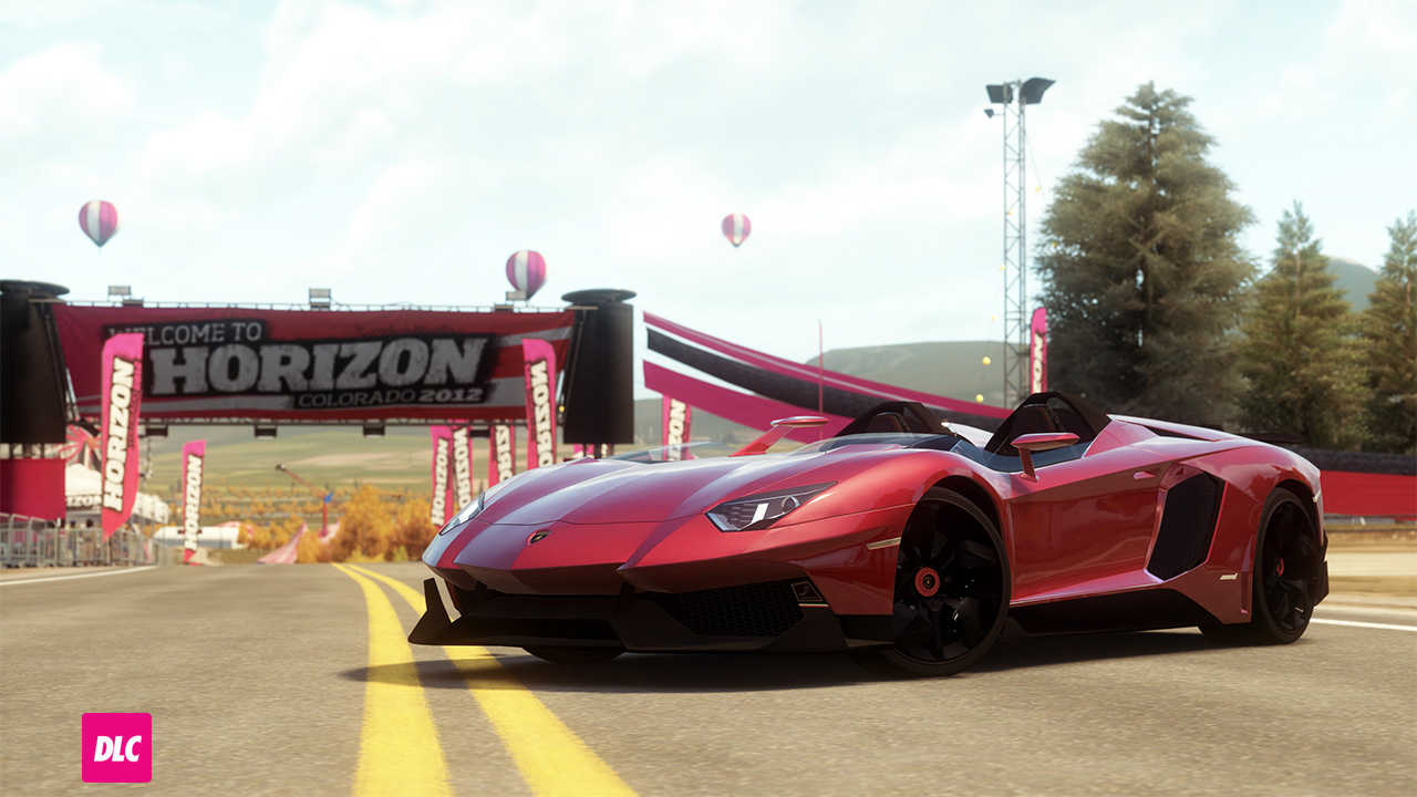 The 2012 Lamborghini Aventador J In Forza Horizon