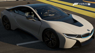 The 2015 BMW i8 in Forza Motorsport 7