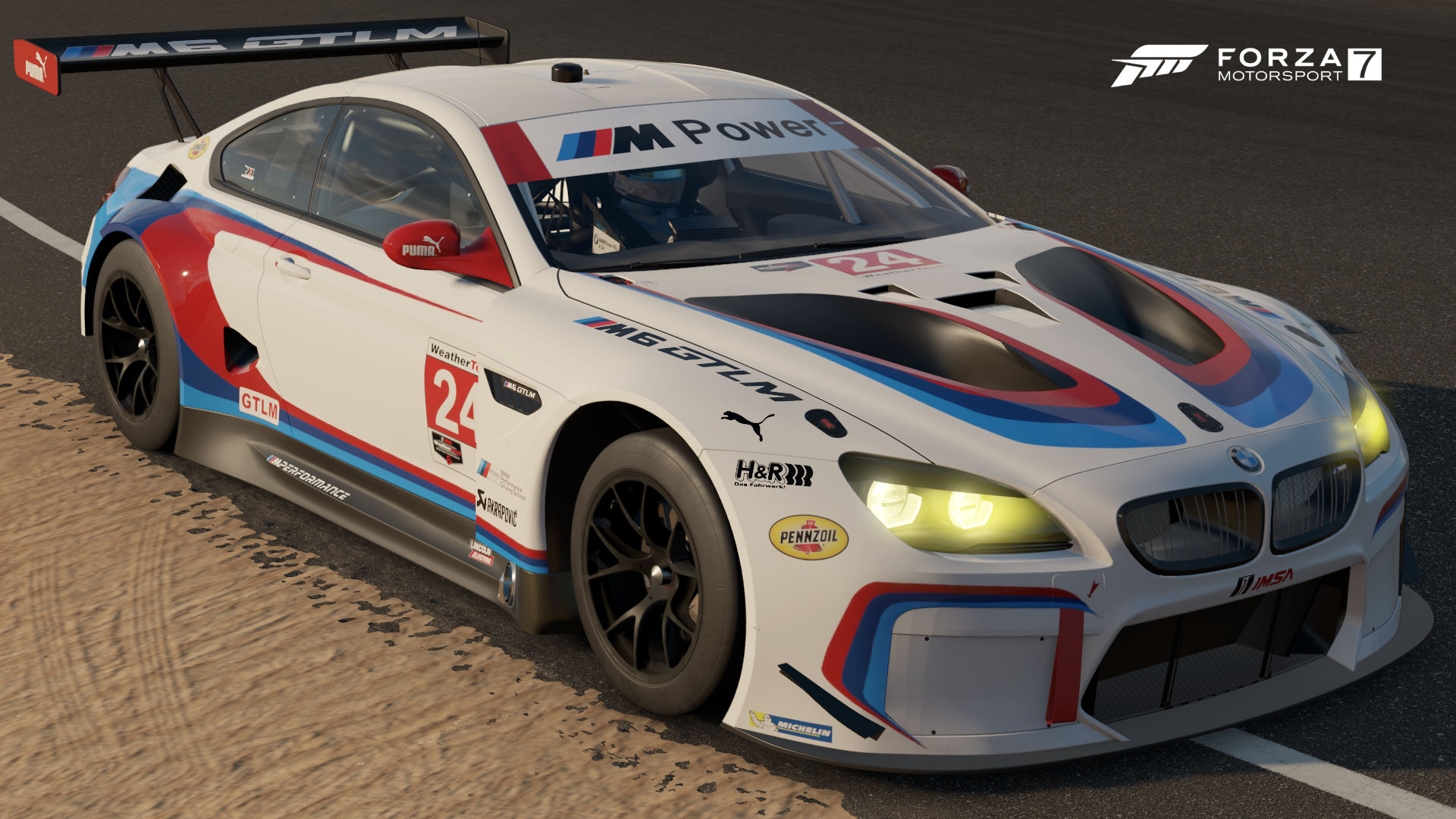 The 2017 BMW 24 Team RLL M6 GTLM In Forza Motorsport 7