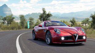The Alfa Romeo 8C Competizione in Forza Horizon 3