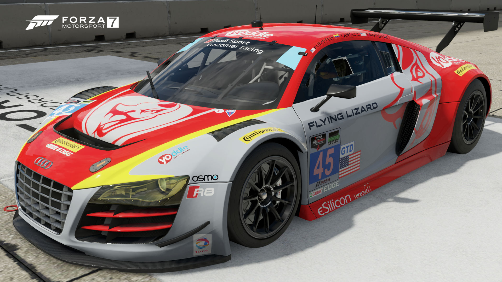 audi 45 flying lizard motorsports r8 lms ultra forza. Black Bedroom Furniture Sets. Home Design Ideas
