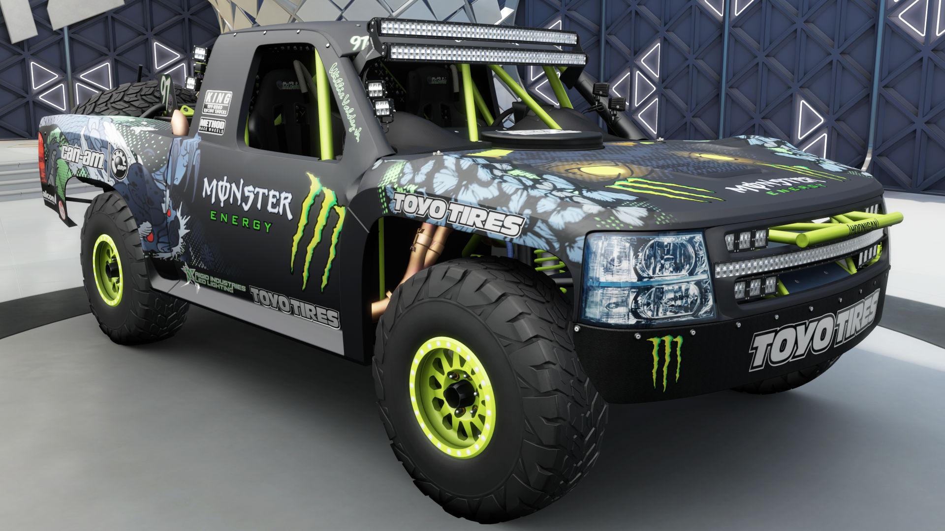 The 2015 Baldwin Motorsports #97 Monster Energy Trophy Truck In Forza  Horizon 3