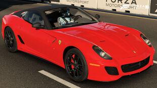The 2010 Ferrari 599 GTO in Forza Motorsport 7