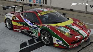 The 2014 Ferrari #51 AF Corse 458 Italia GTE in Forza Motorsport 7