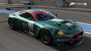 The 2006 Aston Martin #007 Aston Martin Racing DBR9 in Forza Motorsport 7