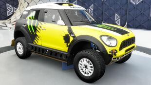 The Mini X-Raid All4 Racing Countryman in Forza Horizon 3