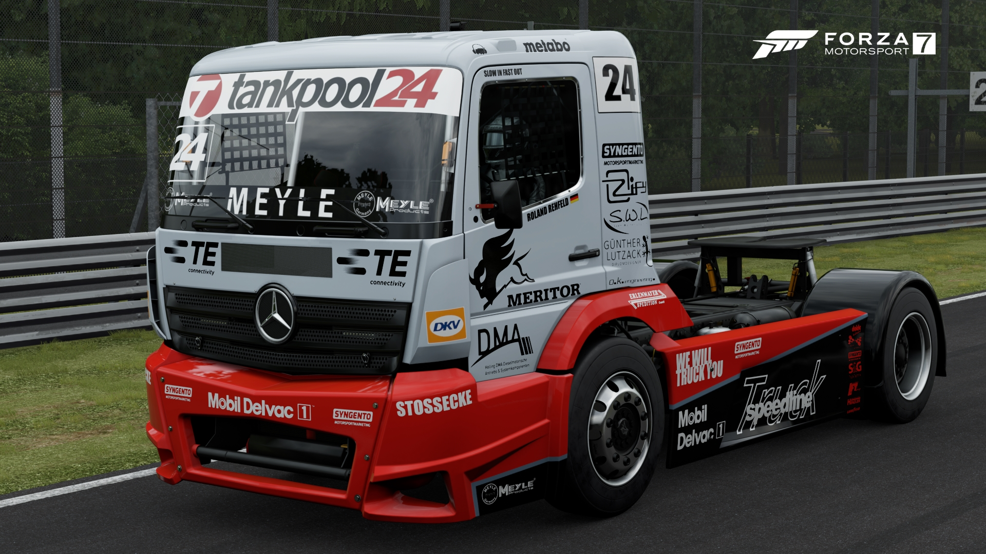 Mercedes benz 24 tankpool24 racing truck forza for Mercedes benz motorsport