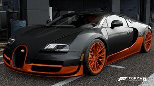 The Bugatti Veyron Super Sport in Forza Motorsport 7