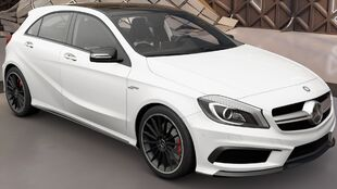The 2013 Mercedes-Benz A 45 AMG in Forza Horizon 3