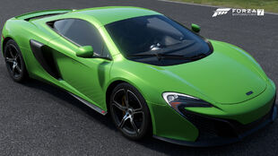 The 2015 McLaren 650S Coupé in Forza Motorsport 7