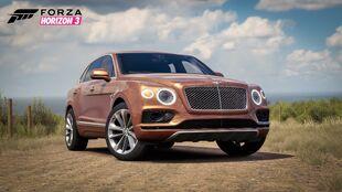 The 2016 Bentley Bentayga in Forza Horizon 3