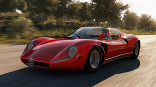 The Alfa Romeo 33 Stradale in Forza Horizon 2