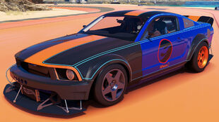 The 2005 Hot Wheels Ford Mustang in Forza Horizon 3