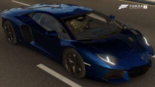 The 2012 Lamborghini Aventador LP 700-4 in Forza Motorsport 7