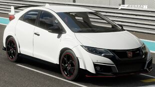 The 2016 Honda Civic Type R in Forza Motorsport 7