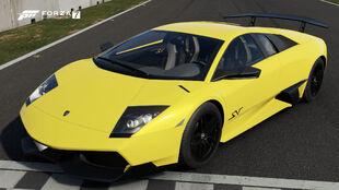 The 2010 Lamborghini Murciélago LP 670-4 SV in Forza Motorsport 7