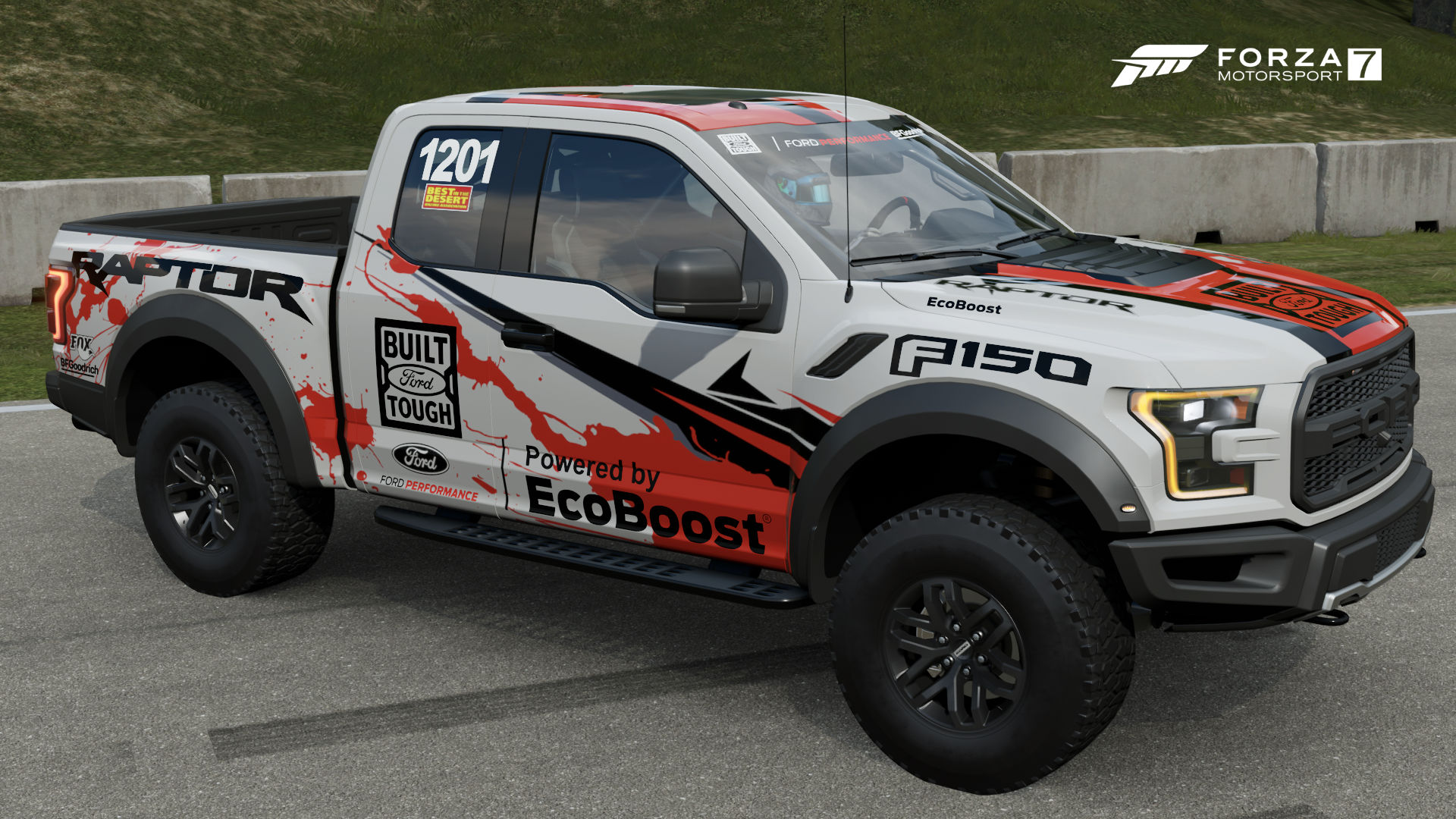 Ford f 150 raptor race truck