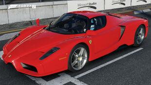 The 2002 Ferrari Enzo Ferrari in Forza Motorsport 7