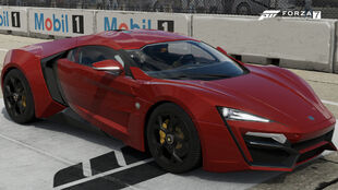The 2016 W Motors Lykan HyperSport in Forza Motorsport 7