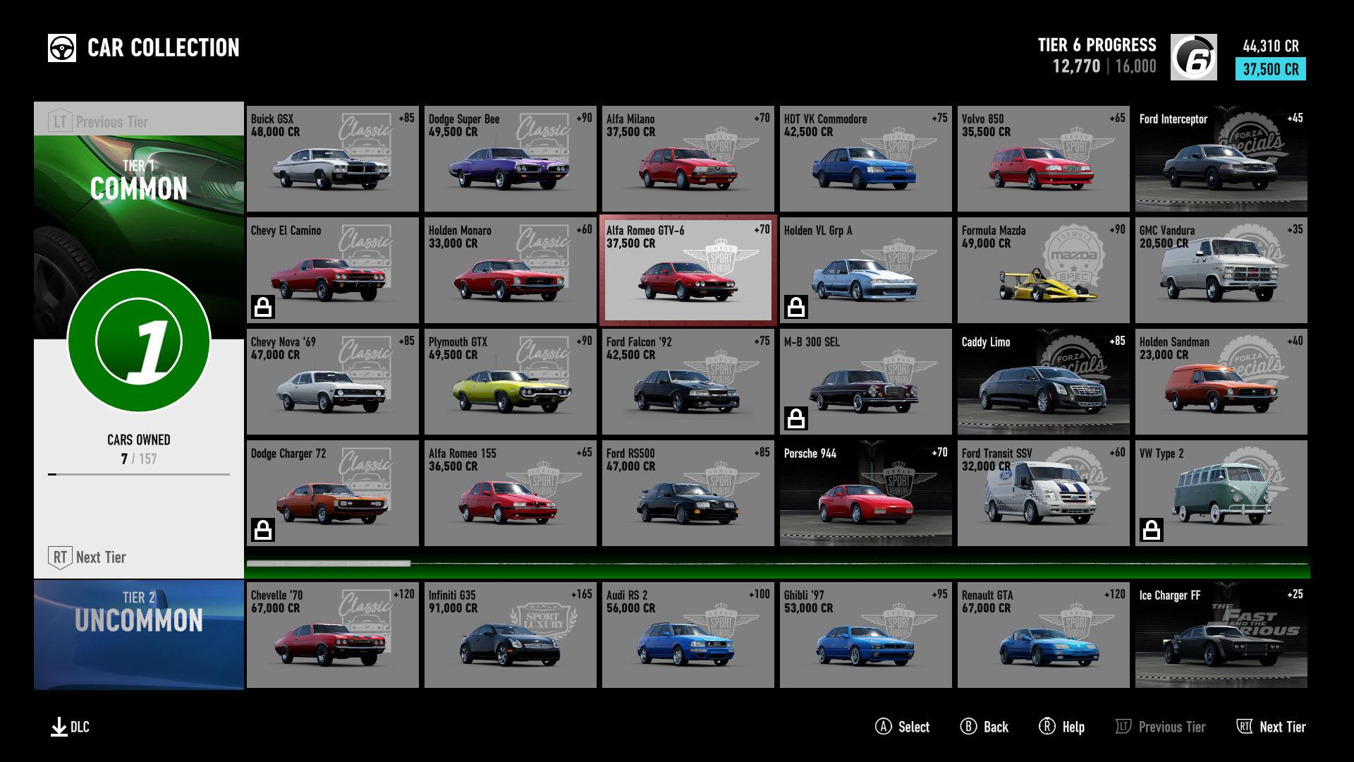 Forza Motorsport 7/Driver Level Milestone Rewards   Forza Motorsport