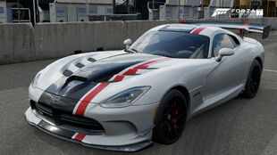 The 2016 Dodge Viper ACR in Forza Motorsport 7