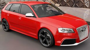 The Audi RS 3 Sportback in Forza Horizon 3
